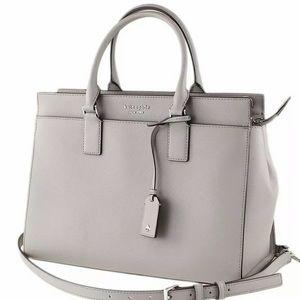 Large satchel WKRU5849Z Cameron Kate Spade taupe